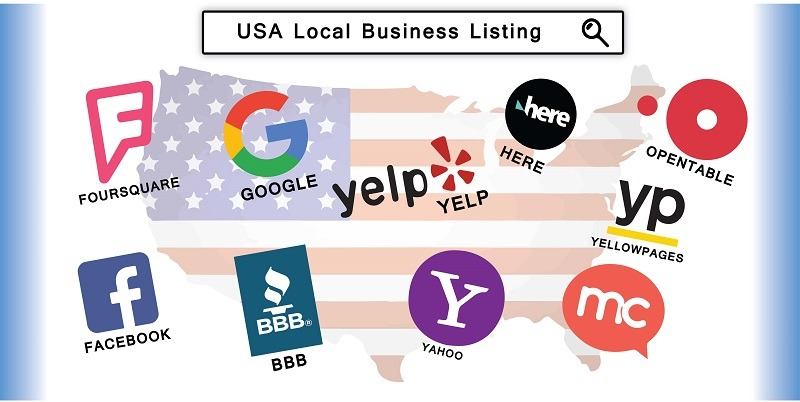 Different local business listing websites