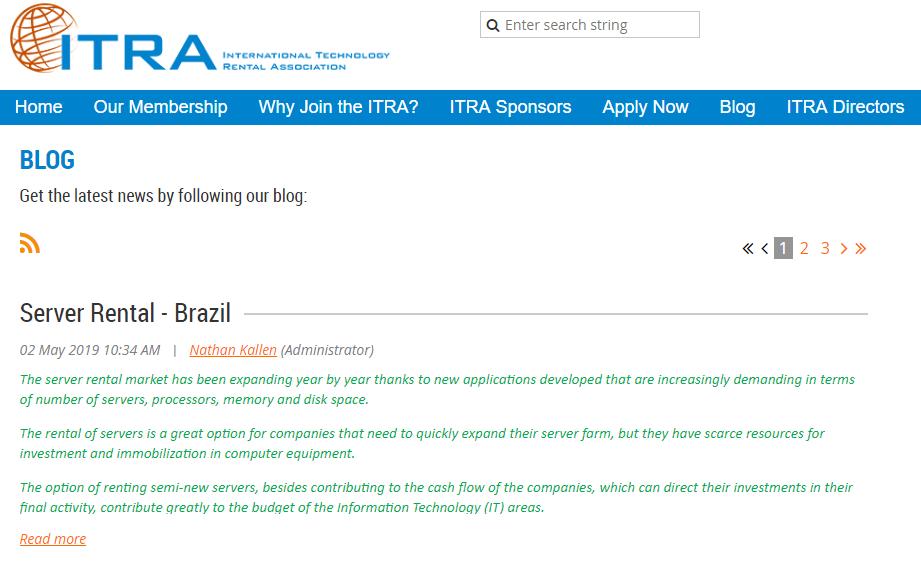 homepage of it-ra.com