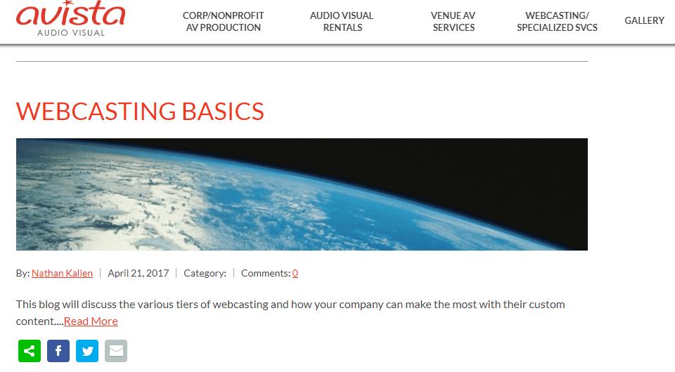 homepage for avistaav.com
