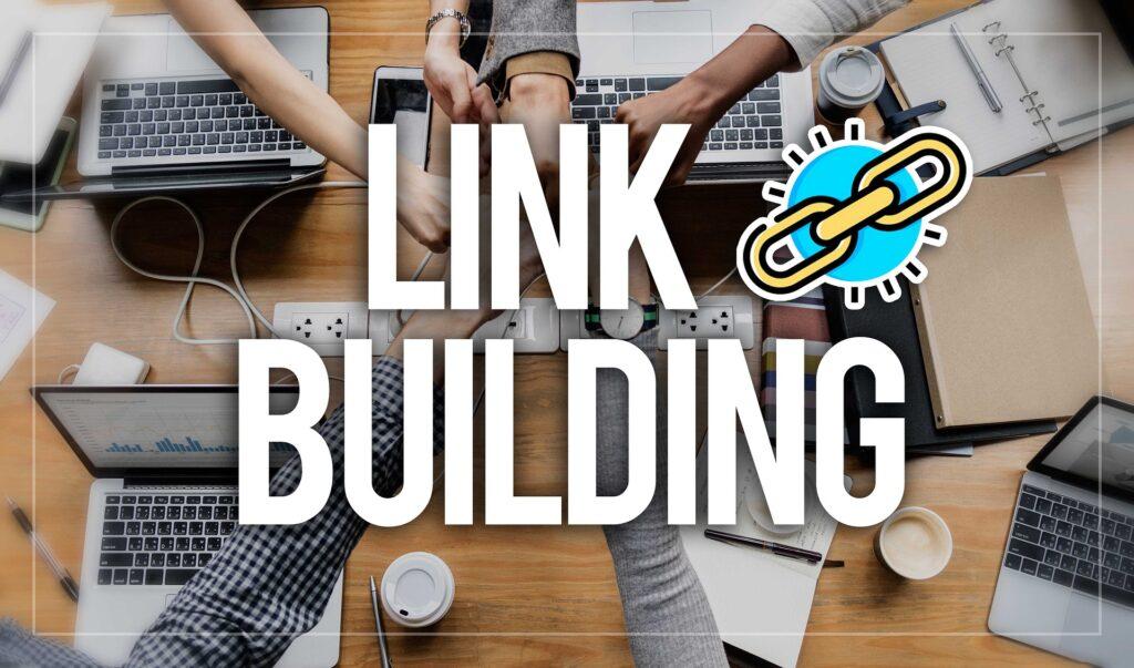 link building team holding hands