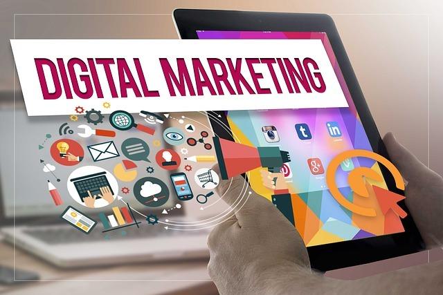 digital marketing on tablet