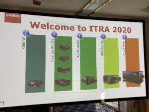ITRA 2020 welcome sign
