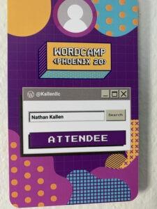 WordCamp Phoenix 2020 Badge
