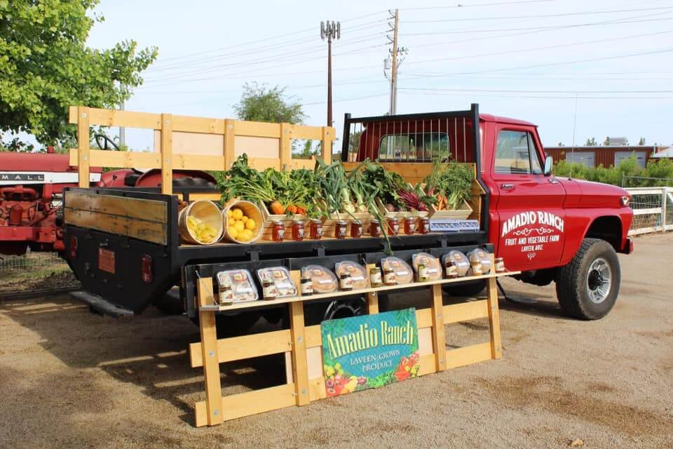 Amadio Ranch Peach Truck with Product.