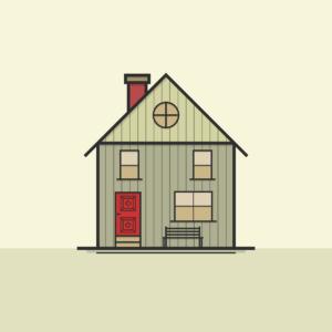 a house on a line