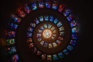 a spiral of windows